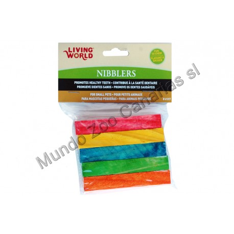 NIBBLERS MADERA COLORES 5UNDS